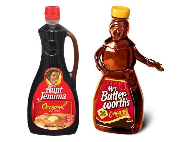 Mrs-Butterworth-Syrup and aunt jemina