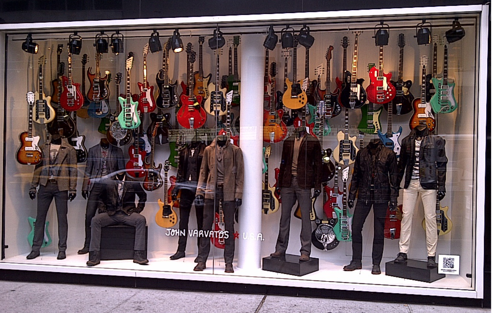 John Varvatos Eastwood Guitars in Bloomingdales NYCwindow