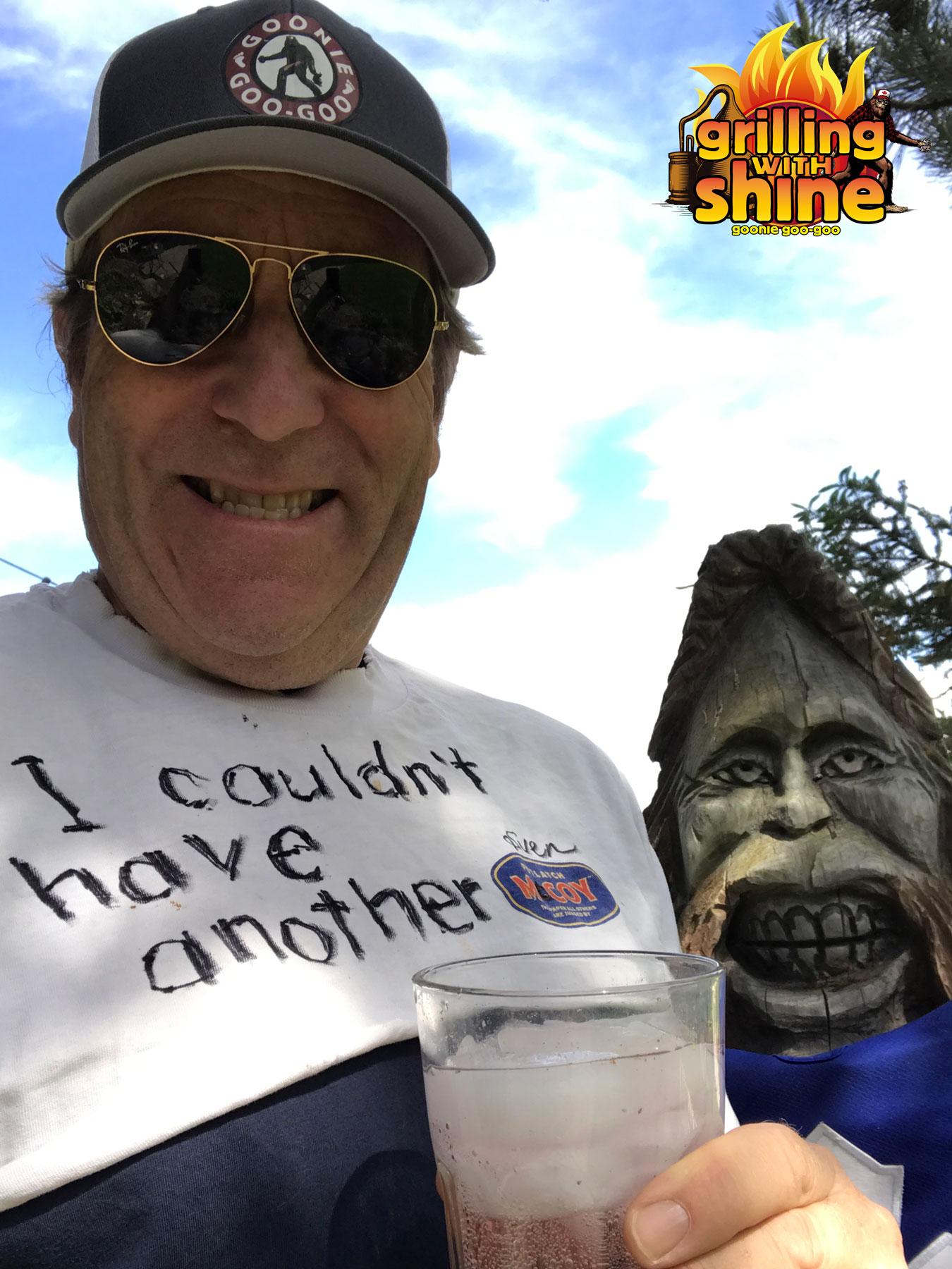 Sven Mcoy and Sasquatch enjoying a Gin-Shine