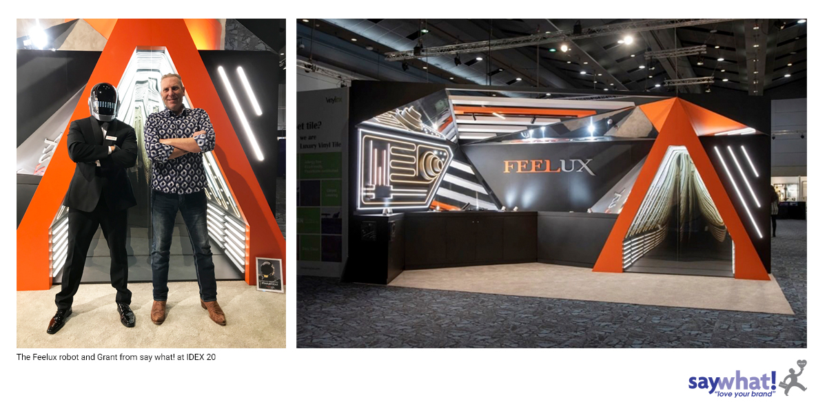 Feelux lighting booth at IDEX 2020