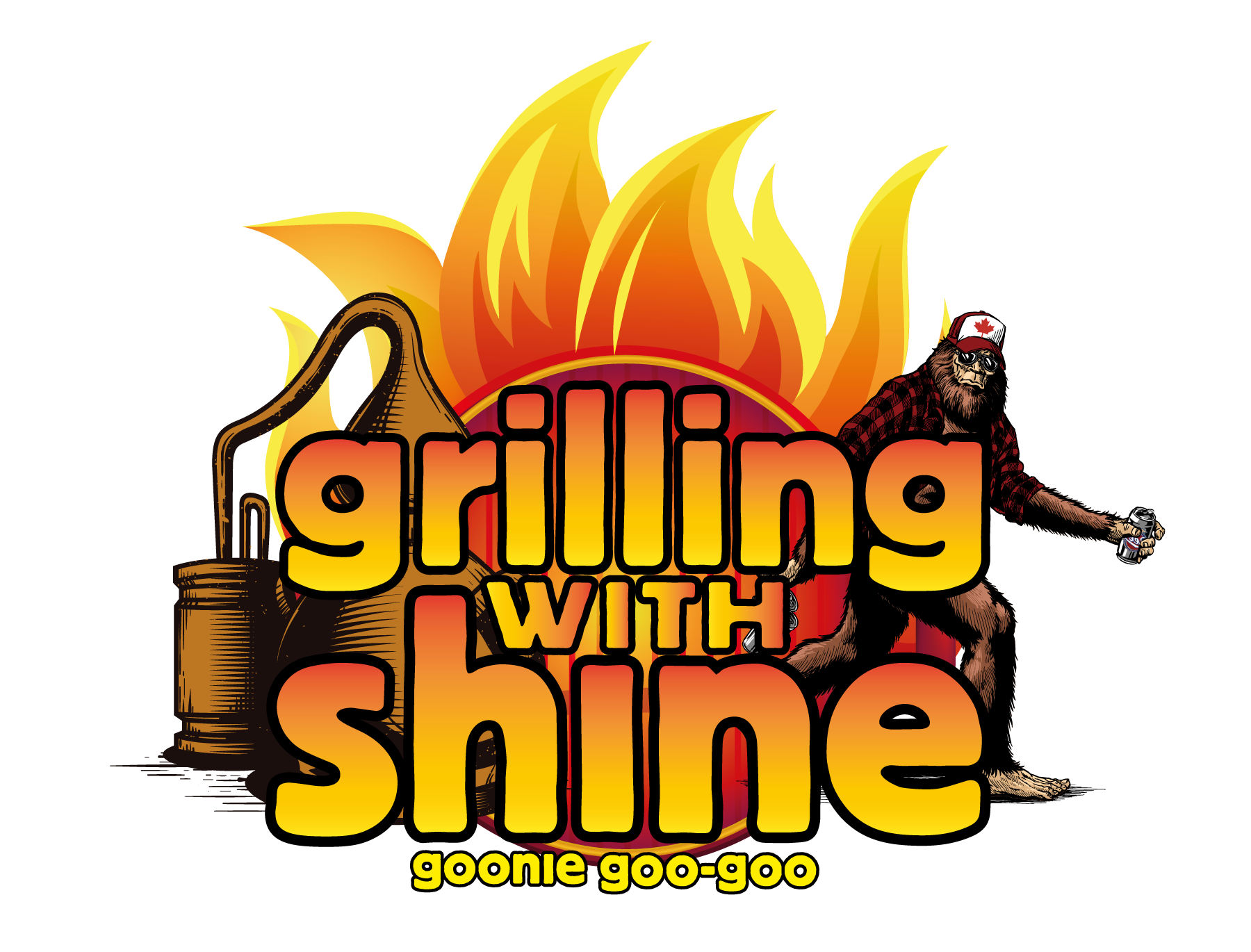 grilling with shine logo