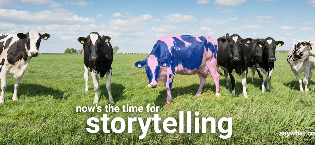 say what story telling cows