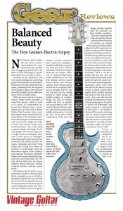 vintage guitar oct07-teye review